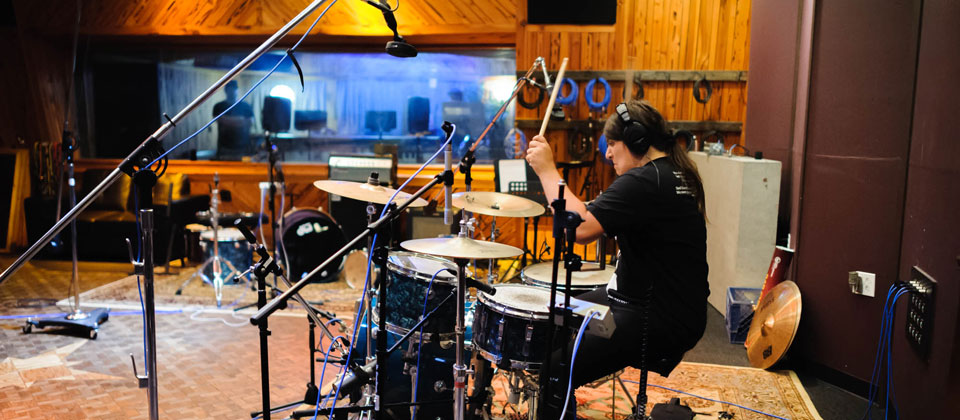 Tracking drummer Felipe Pezzoli of When Whales Collide.